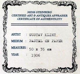Pastel Painting on Paper Gustav Klimt - 3
