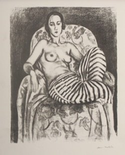 Odalisque with Bayadère Culottes, 1925 - Henri Matisse