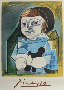 """Lithograph """"Paloma En Bleu"""" By Pablo Picasso"""