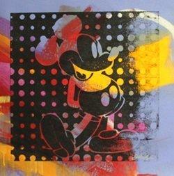 "Original Acrylic on Canvas ""Negative Mickey IV"" By Gail"