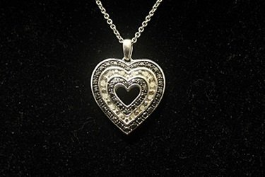 Gorgeous Double Sided Heart Black & White Diamonds