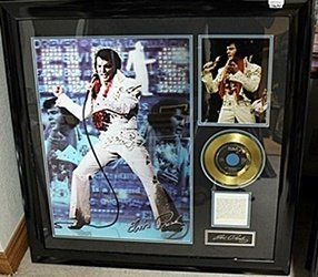 Signed Giclee portrait of Elvis Presley with Gold