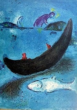 Marc Chagall - - The Dead Dolphin and the Three Hundred