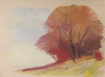 """Original Watercolor on Paper """"Clear Skies"""" by Michael"""