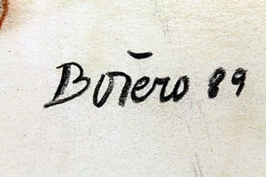 """Pastel """"Nude Maria"""" by Fernando Botero - 2"""