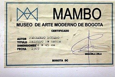"""Pastel """"Nude Maria"""" by Fernando Botero - 4"""