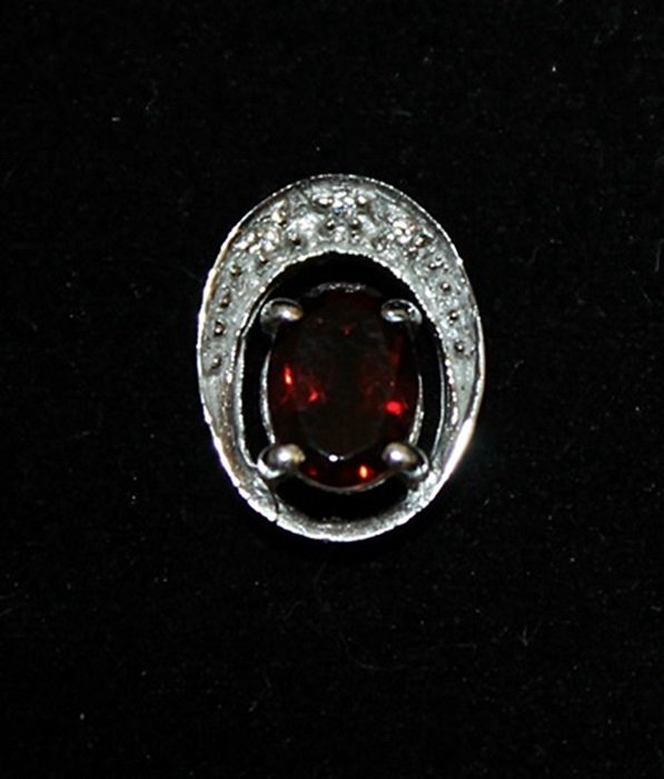 Gorgeous Lab Ruby Silver Pendant (41P)