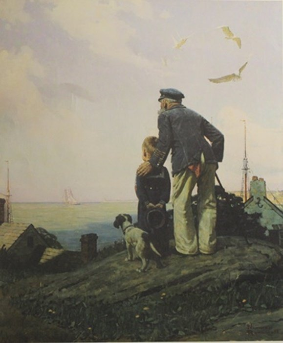 "Lithograph ""Outward Bound""  Norman Rockwell (296A)"