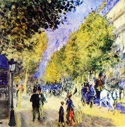 Lithograph - Grand Boulevards - Pierre A. Renoir