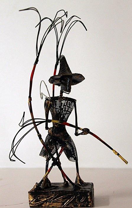 Original Wire Frame Sculpture - B. Teddy St. Ange