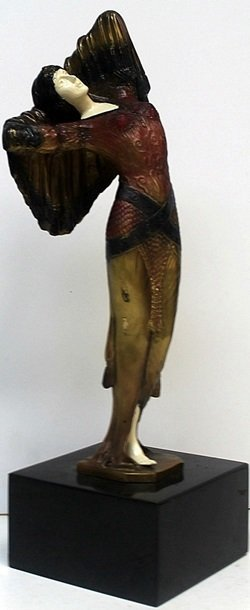 """""""Bethany"""" Bronze  Sculp. - D.H Chiparus"""