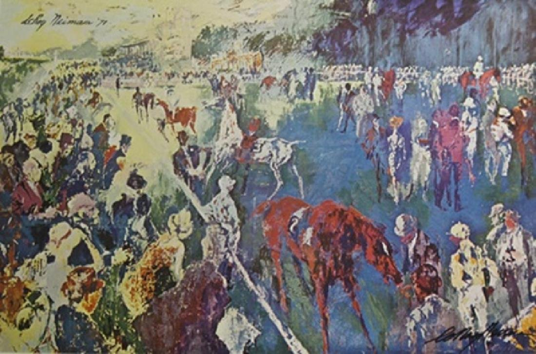 "Print ""Paddock at Chantilly""  LeRoy Neiman (270A)"