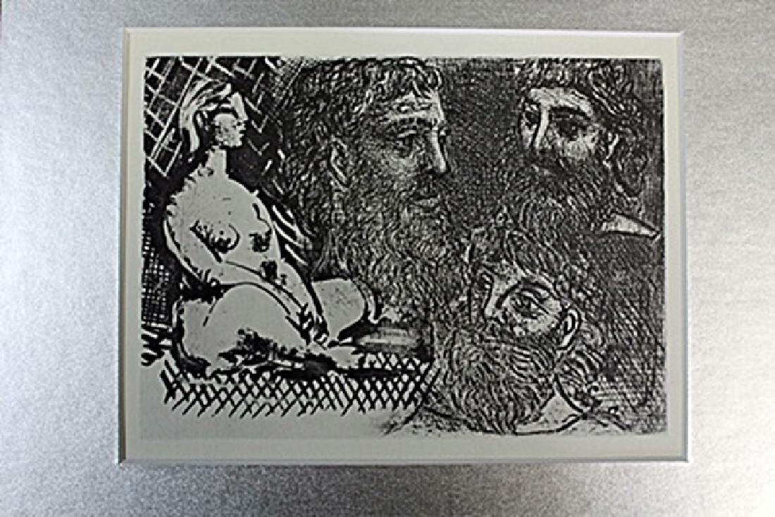 """""""Seated Nude and Studies of Head"""" Lithograph by Pablo"""