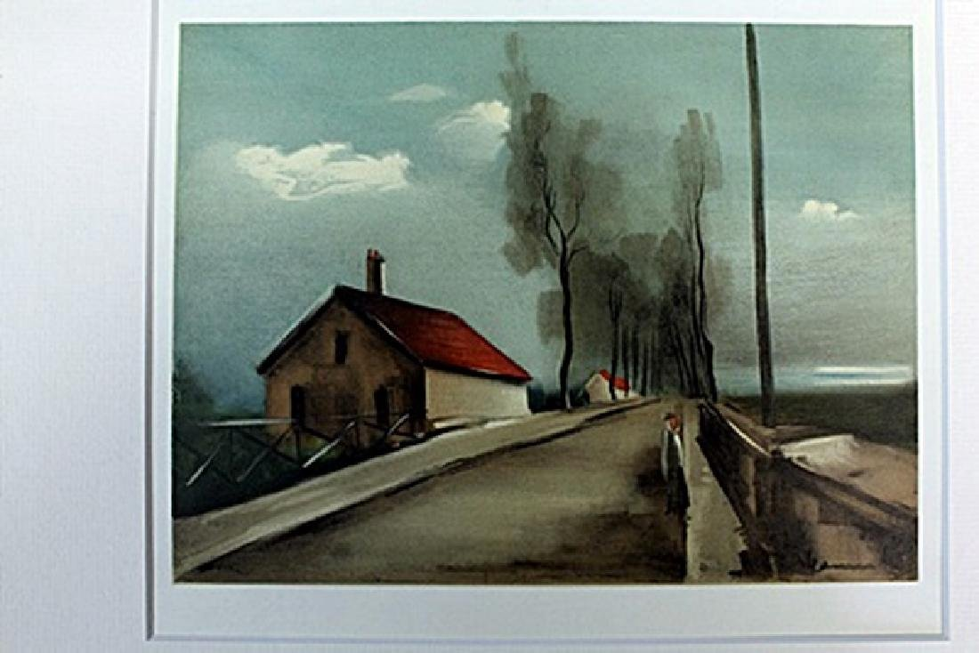 """""""The Brezales Road"""" Lithograph by Valmic"""