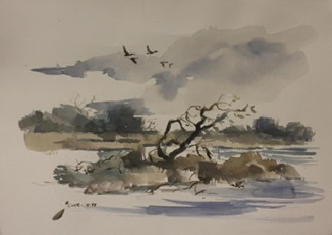 """Original Watercolor on Paper """"South Till Summer"""" by"""
