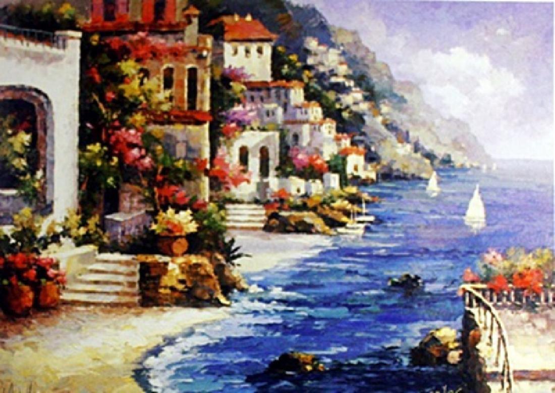 """Lithograph """"Mediterranean View II""""  Williams (153A)"""
