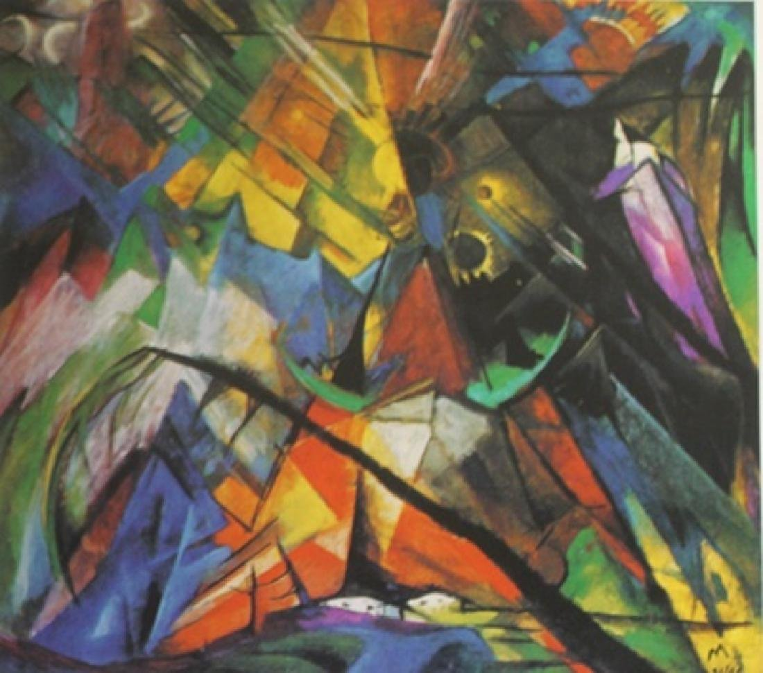 """Lithograph """"Forms in Combat""""  Franz Marc (272A)"""