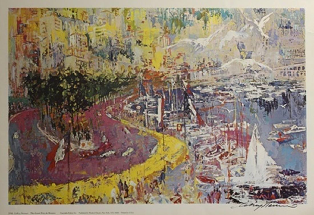 "Print ""the Grand Prix de Monaco""  LeRoy Neiman (259A)"