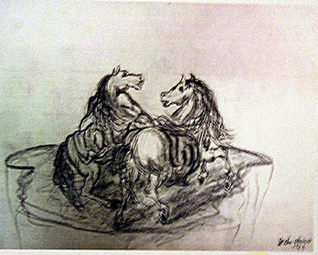 Giorgio De Chirico - Two Horses