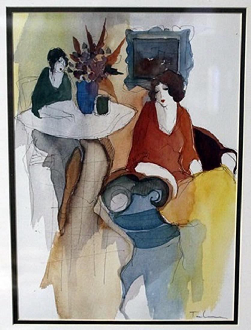 """""""TWO WOMEN IN AN INTERIOR"""" by ITZCHAK TARKAY"""