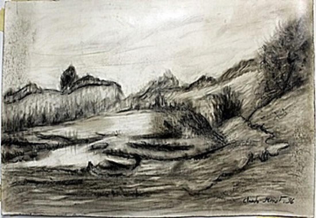 Pen Drawing on Paper -  Claude Monet