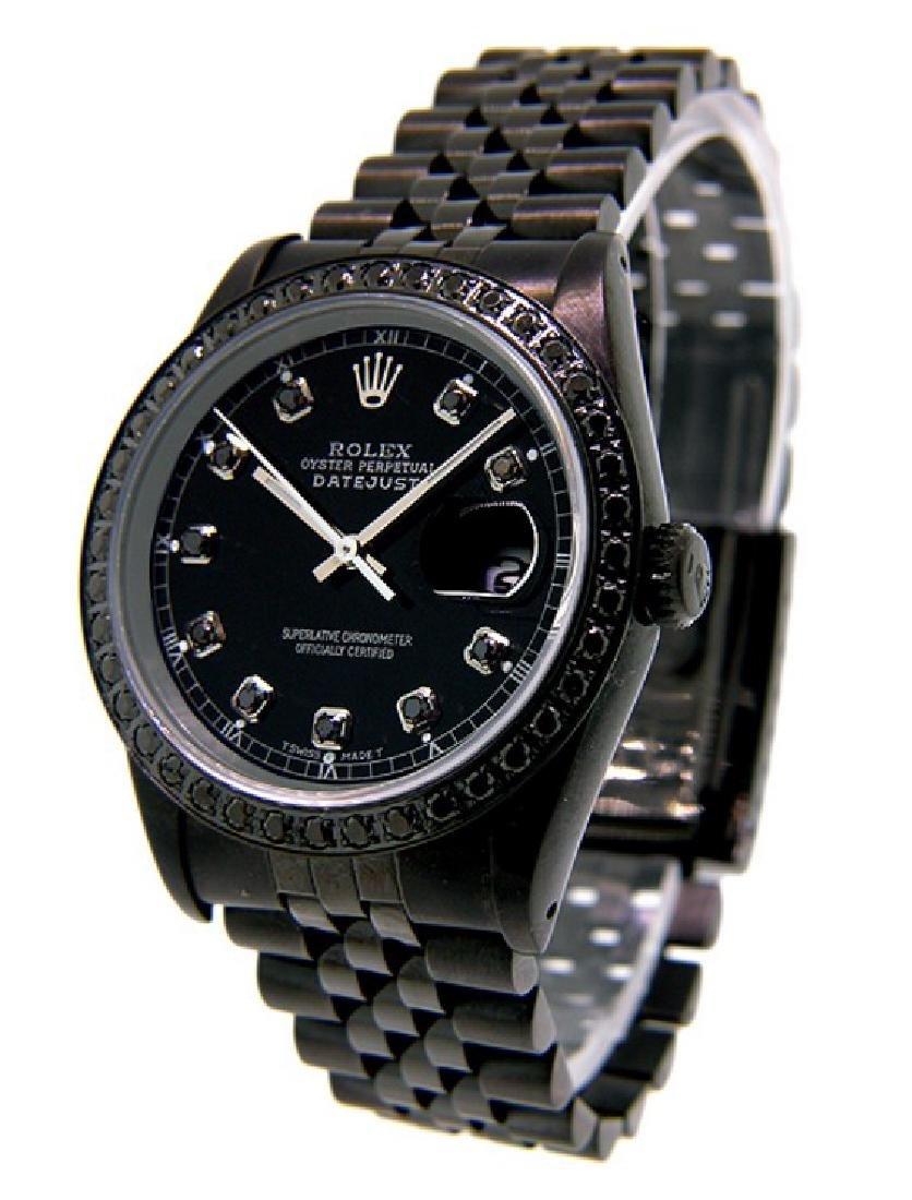 Men's DateJust PVD/DLC Rolex Watch