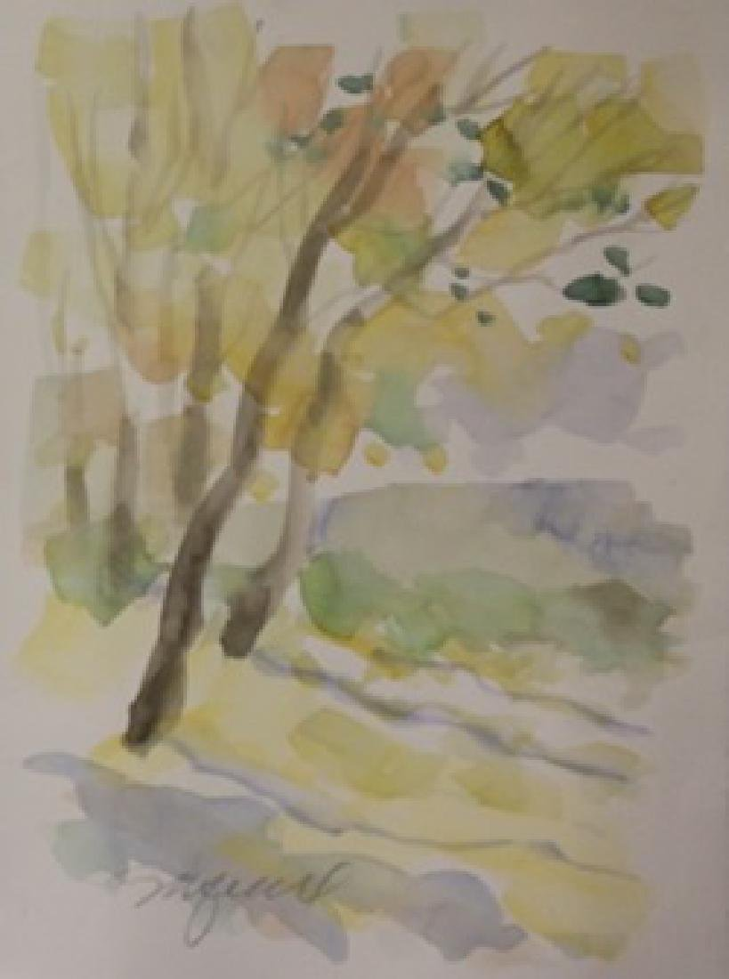 """Original Watercolor on Paper """"Falls First Colors"""" by"""