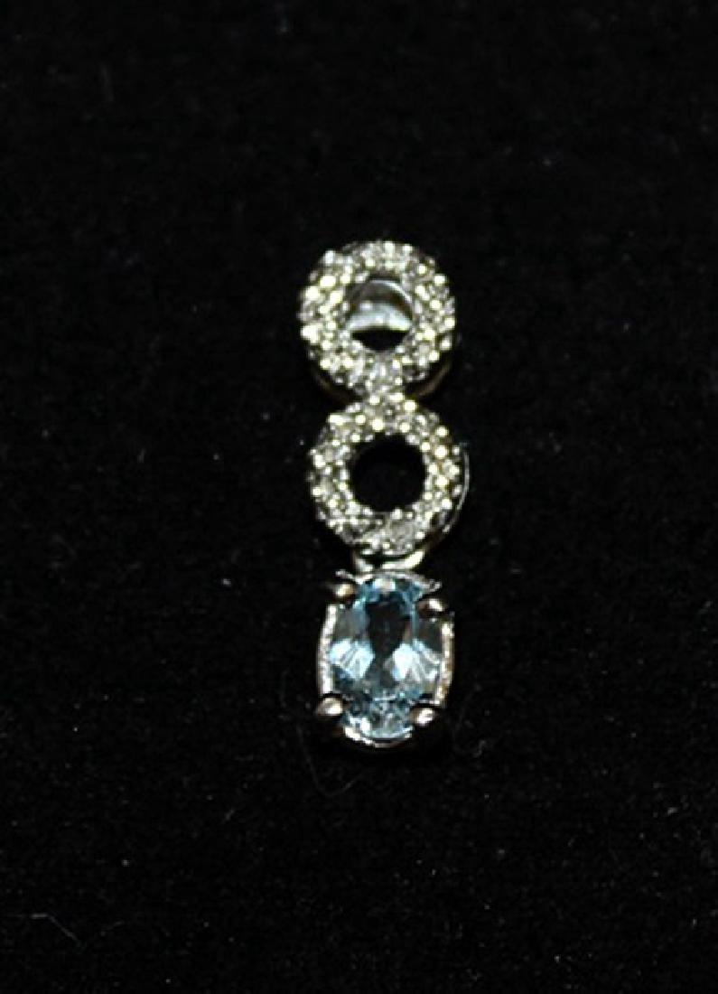 Exquisite Topaz & Diamonds Silver Pendant (29P)