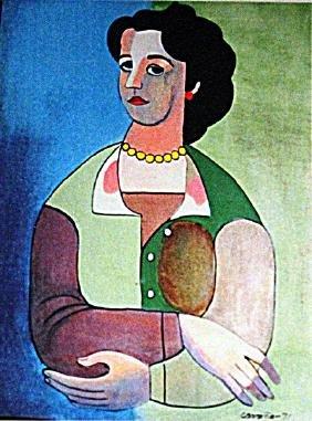 Mario Carreno - Portrait of a Woman