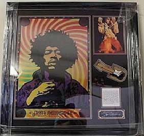 Jimi Hendrix Hologram with Mini Guitar HE5081