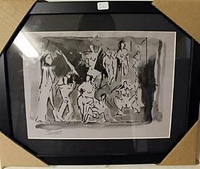 Pablo Picasso Signed Pencil Art