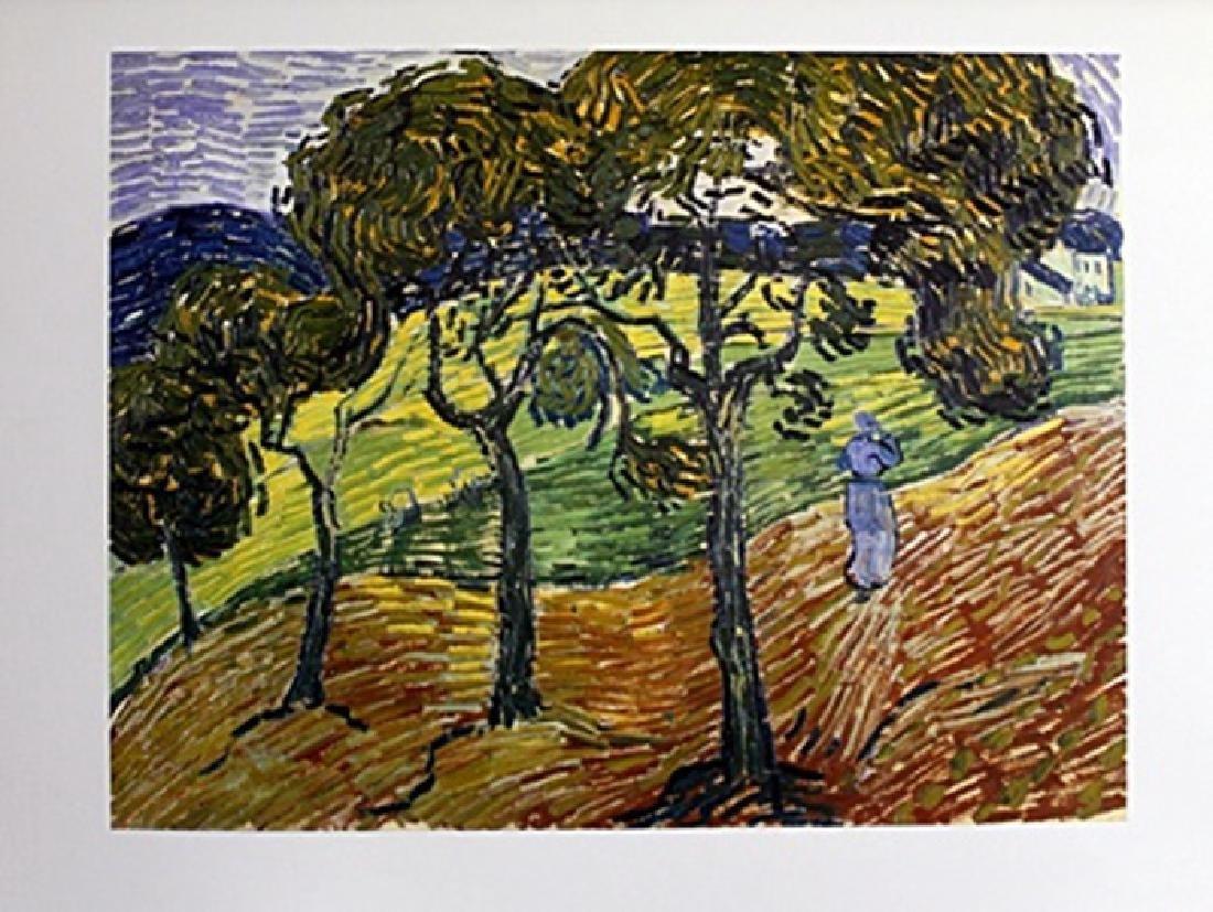 """Print """"Landscape with Figures""""  Vincent Van Gogh (155A)"""
