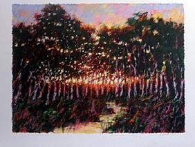Serigraph - Forest at Dusk - Aldo Luongo