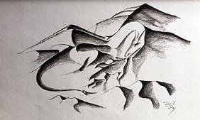 Lithograph Dragon - David Dory