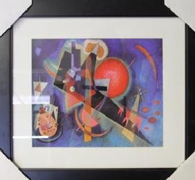 """Lithograph """"In Blue"""" By Wassily Kandinsky"""