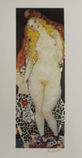 """Lithograph """"Adam & Eve""""  Gustav Klimt (228A)"""