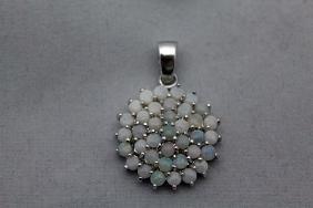 Exquisite Opals Silver Pendant (78P)