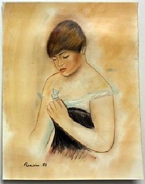 Pastel Drawing on Paper -  Pierre Auguste Renoir