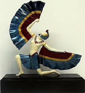 """Fan Dancer"" Bronze  Sculp. -  D.H. Chiparus"