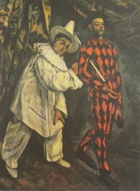 "Lithograph ""Mardi Gras""  Paul Cezanne (345A)"