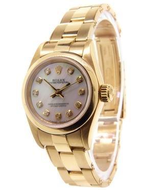 Women's Custom 18K Gold Rolex Watch