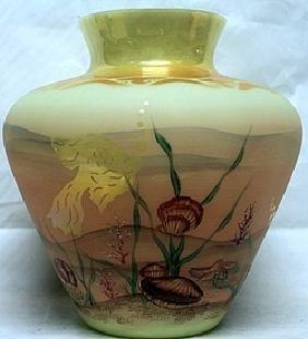Authentic Hand Painted Fenton Glass Vase