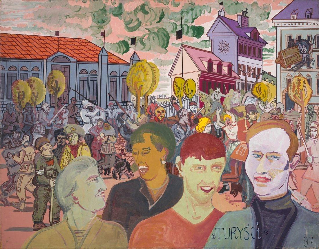 Edward Dwurnik (1943) - Turysci