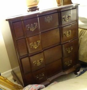 Chippendale Style Mahogany Block Front Chest