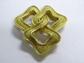 18k Yellow Gold Pin, Made For Tiffany, Italy