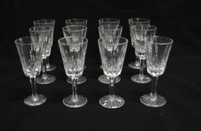 Set Of 12 Waterford Lismore Sherry Glasses