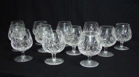 Set Of 12 Waterford Lismore Brandy Snifters