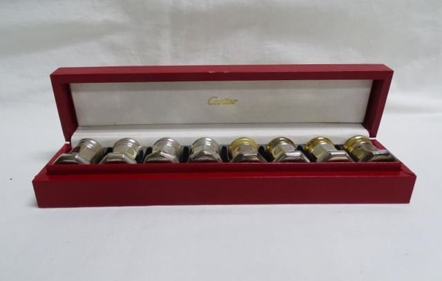 Set of 8 Cartier Sterling Shakers