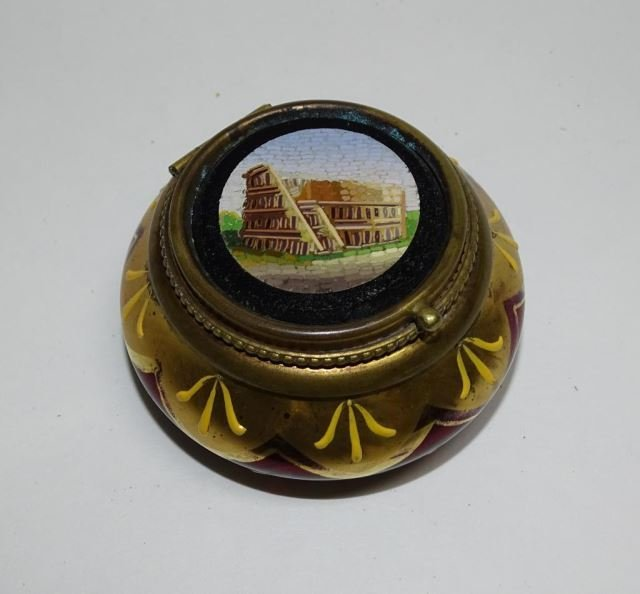 Italian Micro Mosaic Glass Box