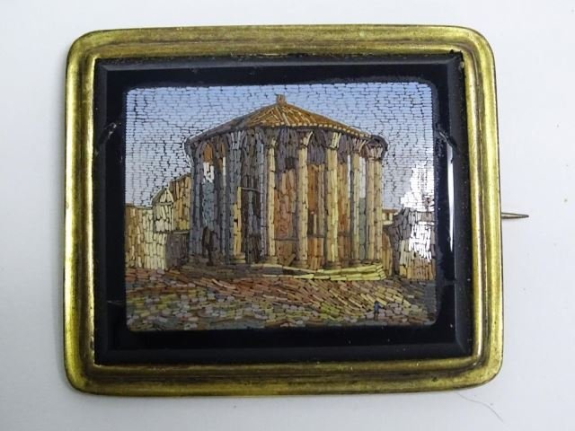 Italian Micro-Mosaic Brooch